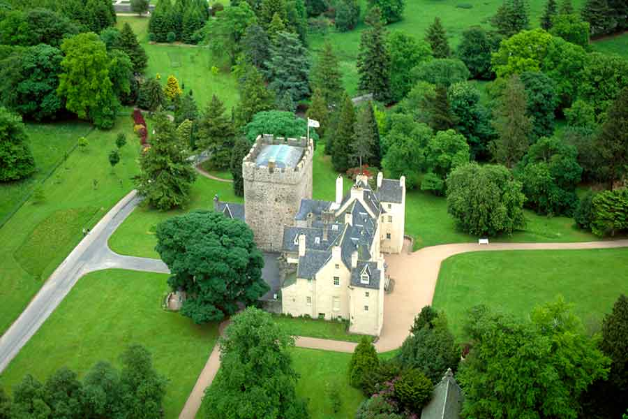 drum castle aerial shot
