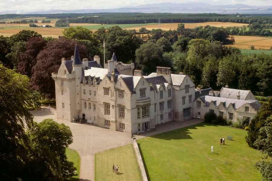 brodie castle aerial shot