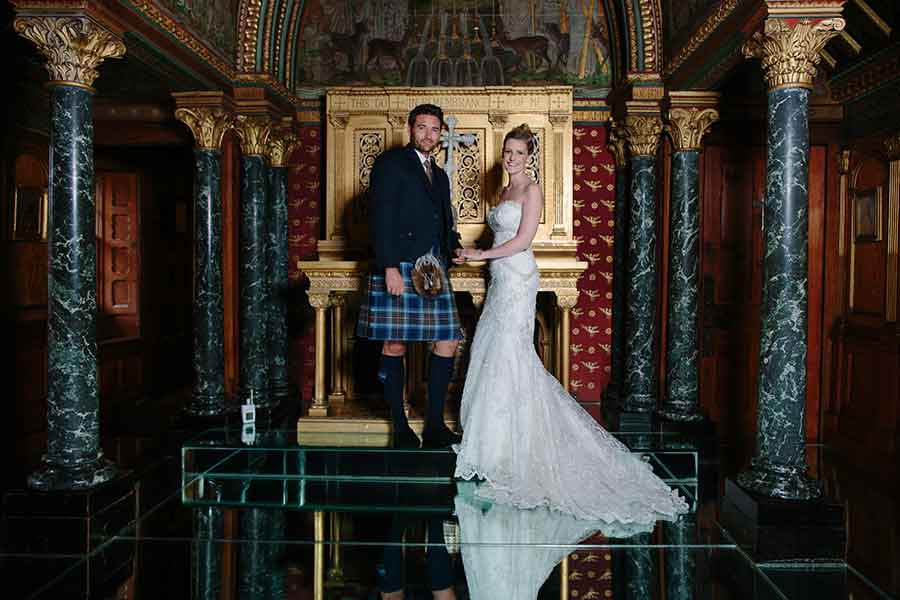 mount stuart wedding couple
