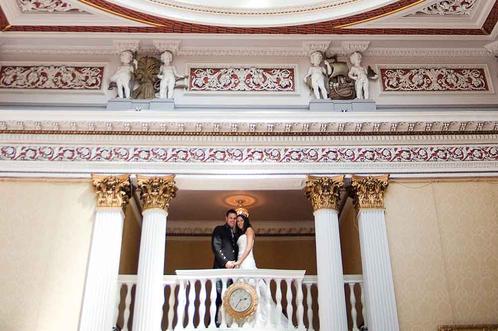 merchants hall wedding couple