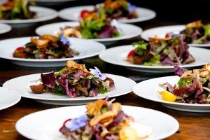 plates of wedding catering