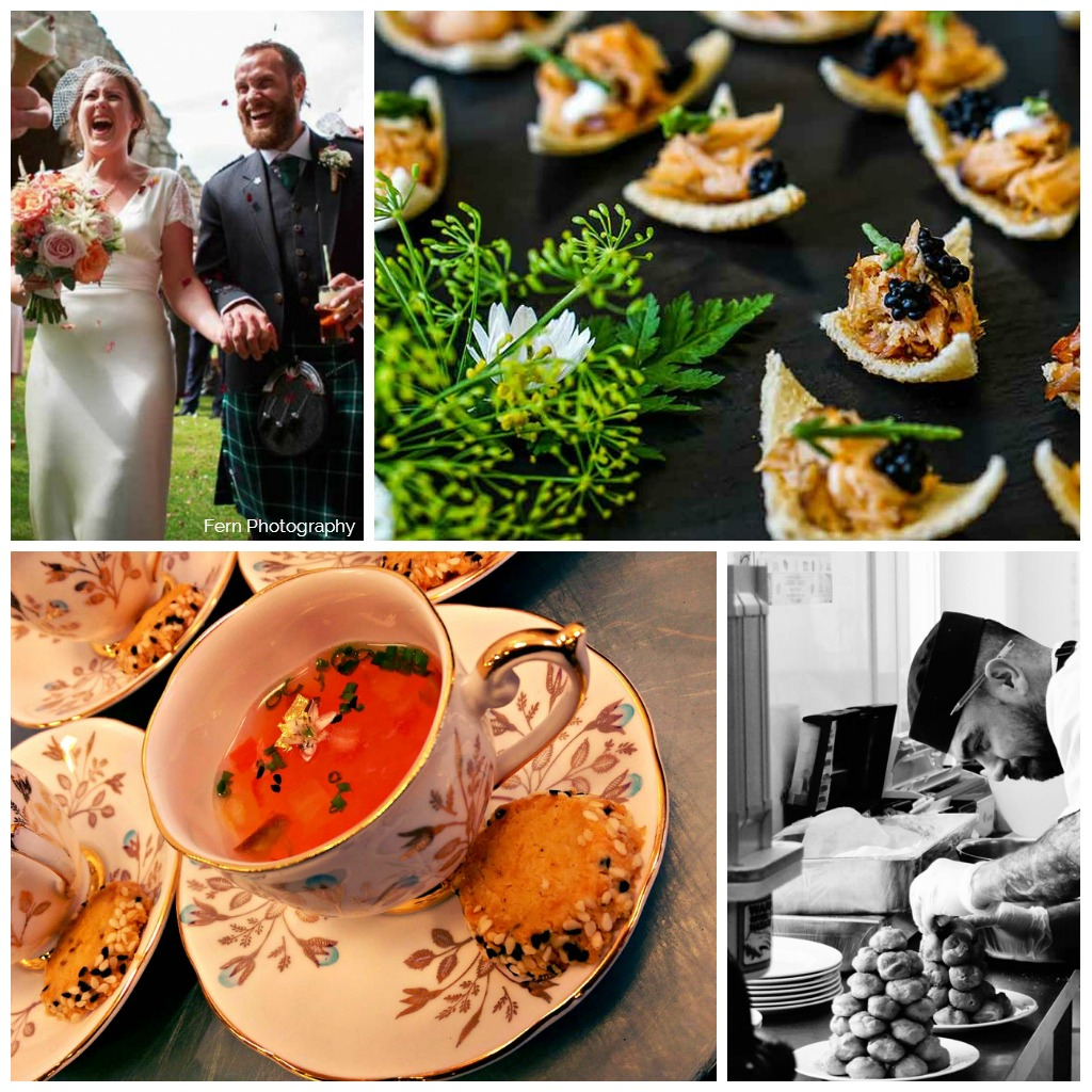 wedding menu collage