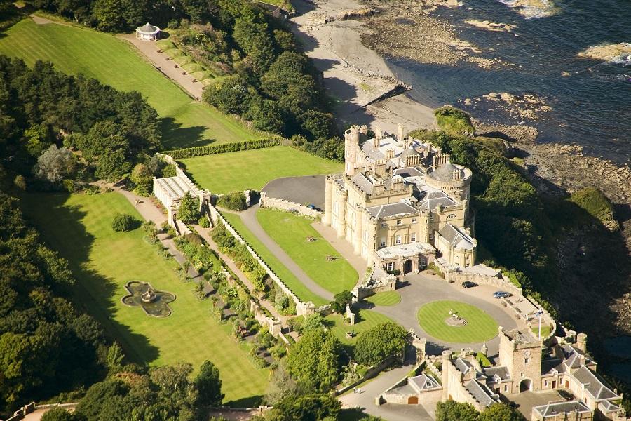 culzean-castle-aerial-view