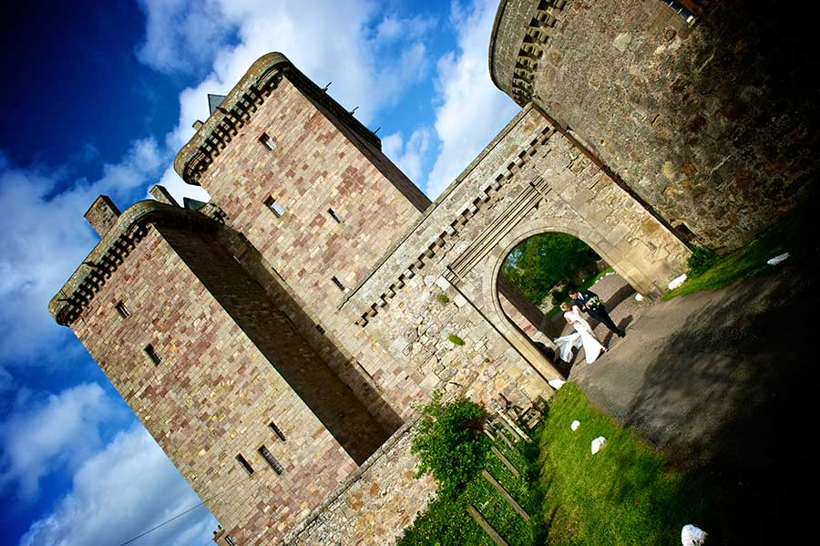 Borthwick Castle Wedding Couple Image