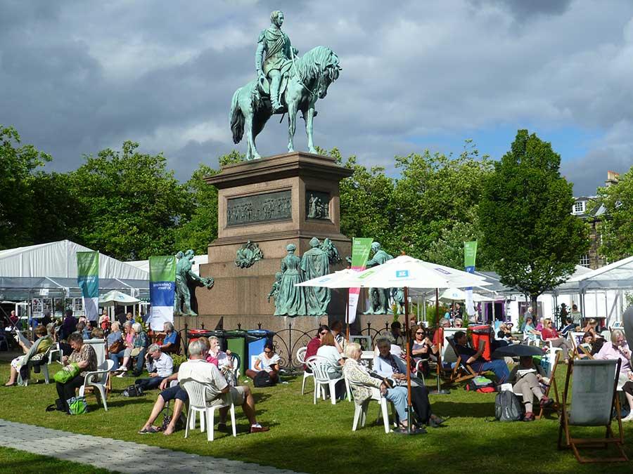 Edinburgh International Book Festival in Charlotte Square