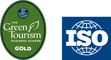 ISO logo and Green Tourism Gold Badge